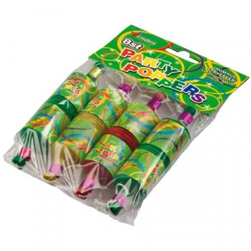 PARTYPOPPERS 8-PACK